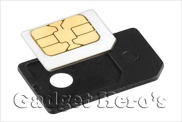 micro sim card adapter template download