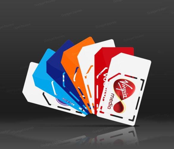 standard micro sim card template download