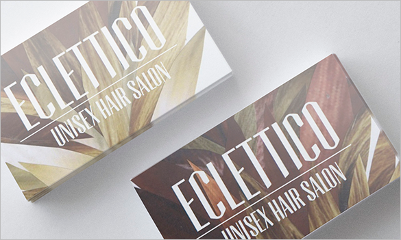 eclettico hair stylist business card for free