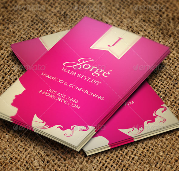 gorge hair stylist business card premium download - Stylist Business Cards