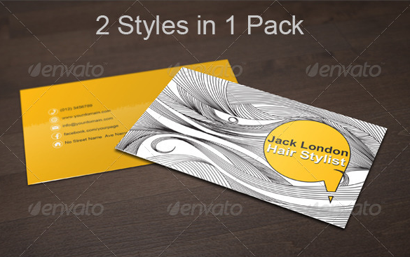 29+ Hair Stylist Business Cards Free Download | Free & Premium ...