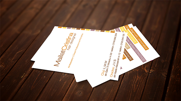 stunning free hair stylist business card