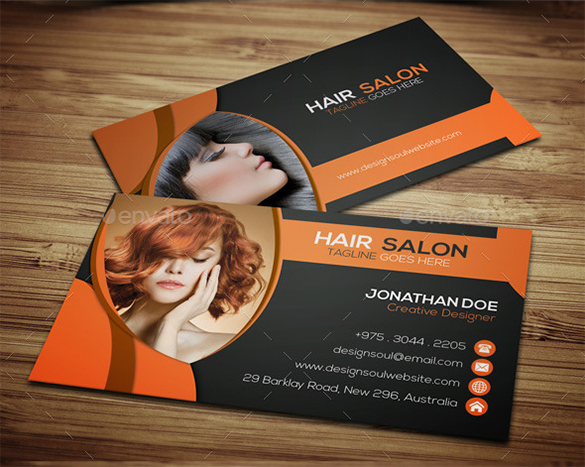 Hair Stylist Business Cards Free Download Free Premium - Hair salon business card template