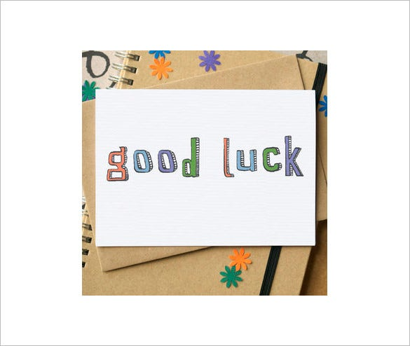 Good Luck Card Template 21 Free Printable Sample Example – Good Luck Cards to Print