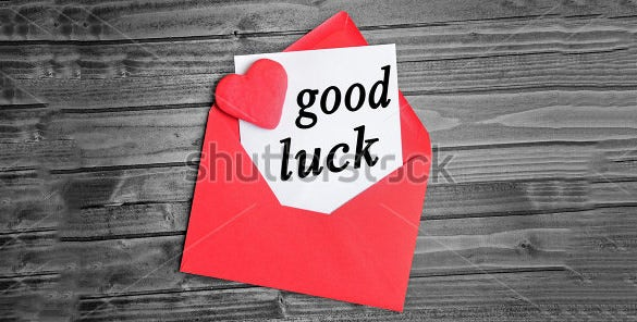 red colour good luck card template