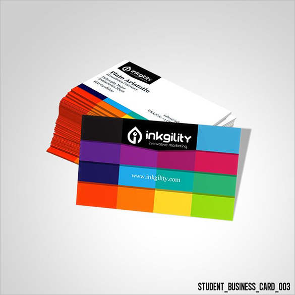 18 student business cards free printable psd eps word for Student business card template