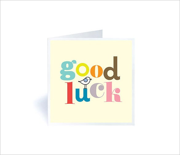 good luck card example template download
