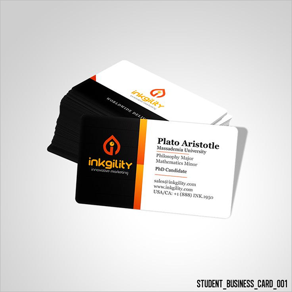 outstanding premium student business card