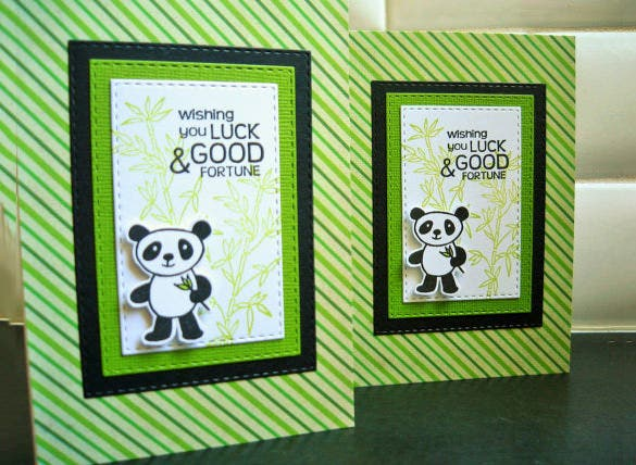 panda good luck card template download
