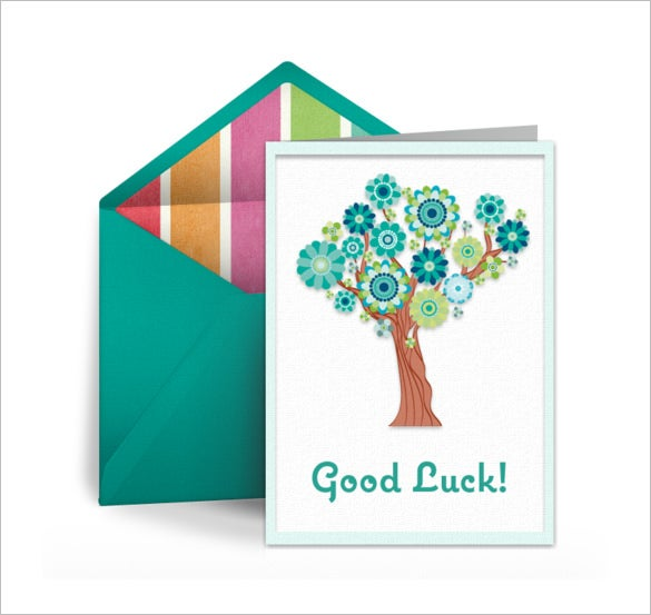 sample good luck card template download