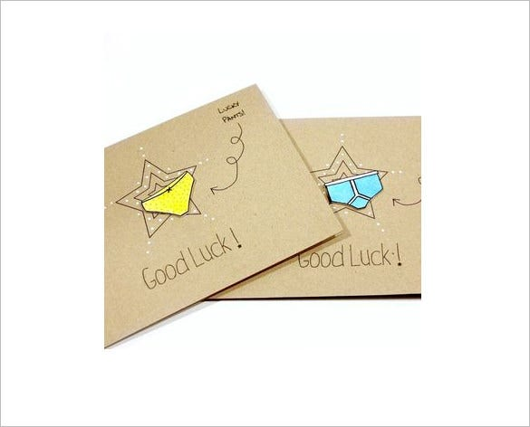 personalised good luck card template