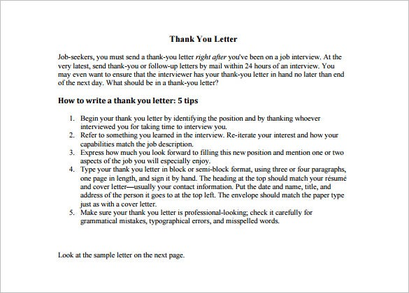 9+ Thank You Letter To Teacher - DOC, PDF | Free & Premium Templates