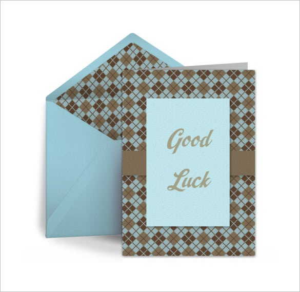amazing good luck card template download