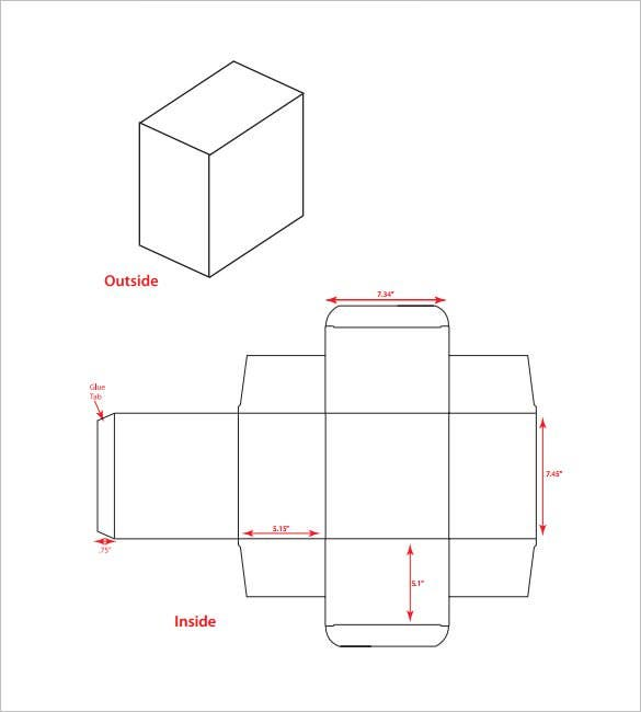 small rectangle box template