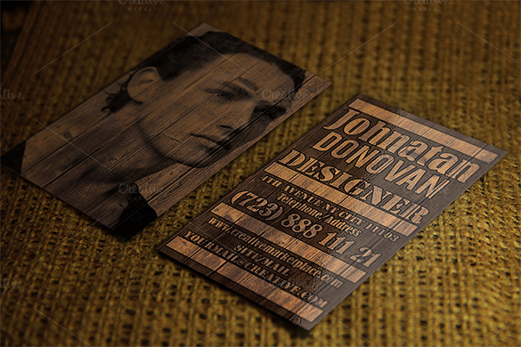 awesome wooden business card premium download