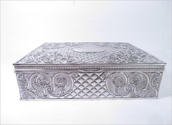 silver rectangle boxtemplate