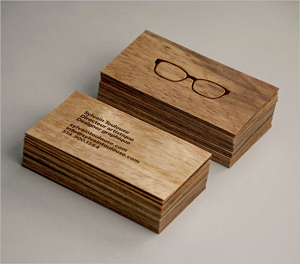 sylvain free wooden business card download