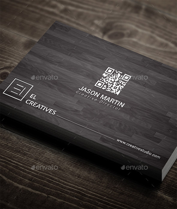 premium minimal wooden business card