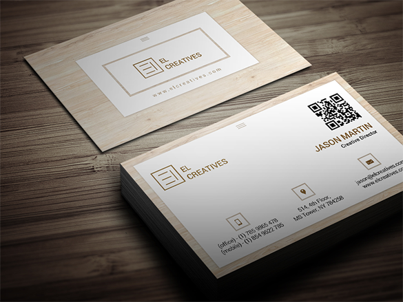 best premium wooden business card