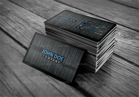 astonishing premium wooden business card
