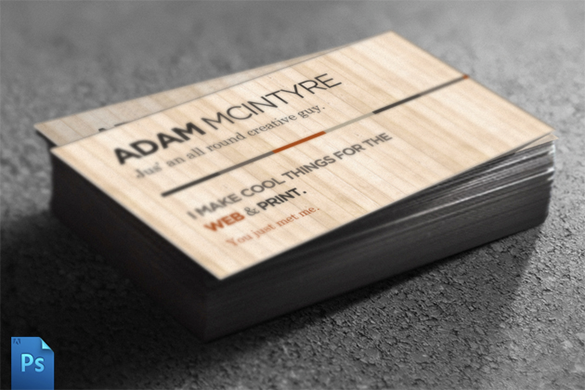 excellent wooden business card for premium