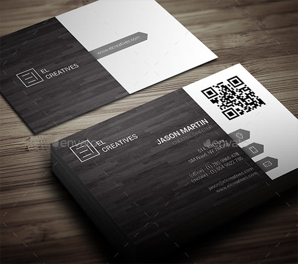 premium corporate style wooden business card