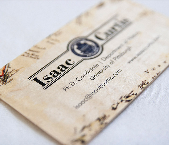 stylish wooden business card free download