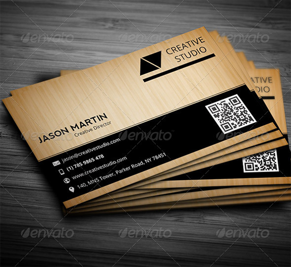 classic premium wooden business card