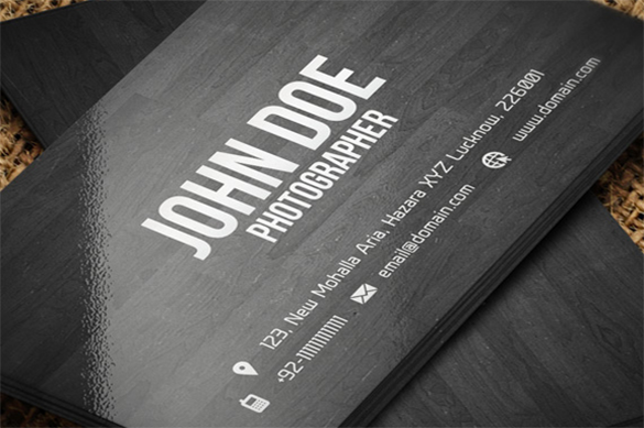 extraordinary wooden business card for you