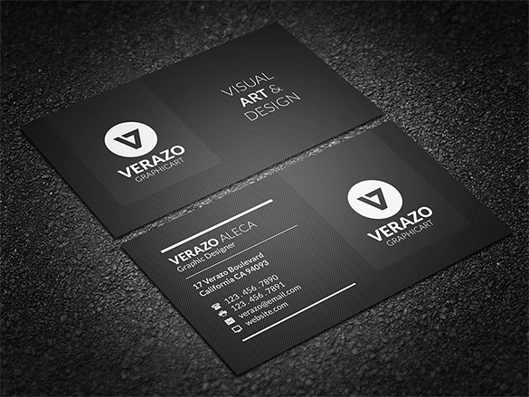 25 Black Business Cards Free Printable Psd Eps Word