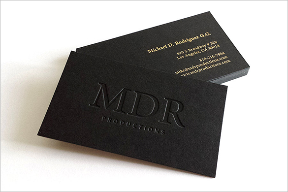 best modern black business card download