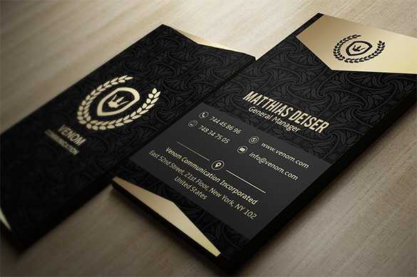 general manager black business card for you