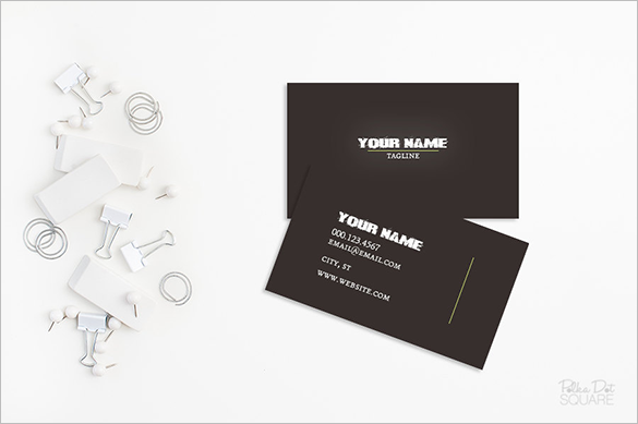 premium printable black business card