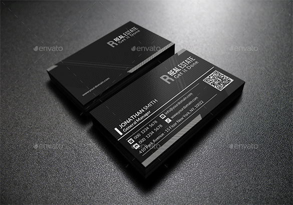 excecutive premium black business card