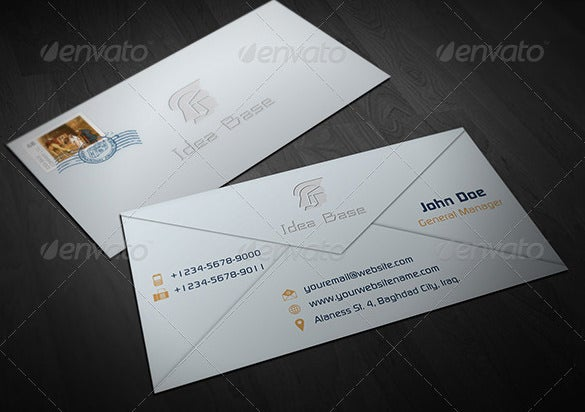 business envelope template download