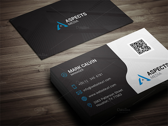 21 Black Business Cards – Free Printable PSD EPS Word