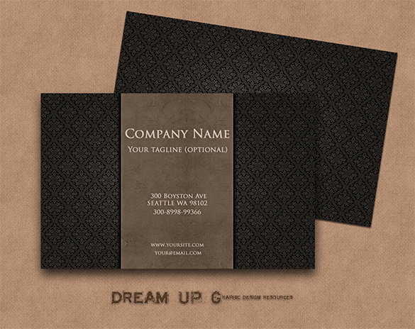 printable black superior business card