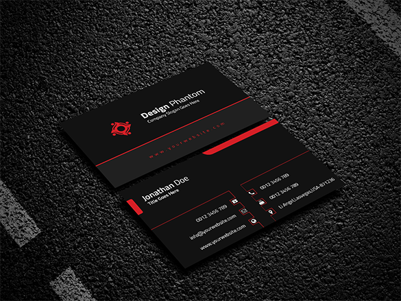 fabulous black business card premium download