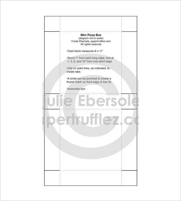 pizza box template pdf