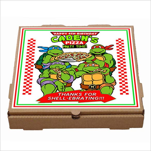 turtles pizza box