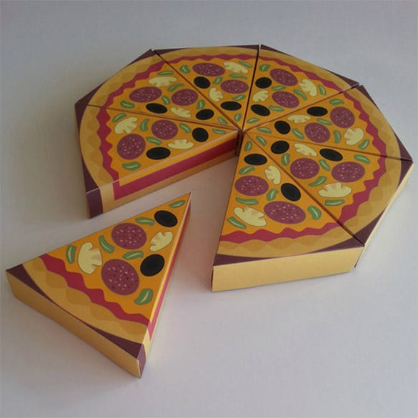 pizza slice party box bag