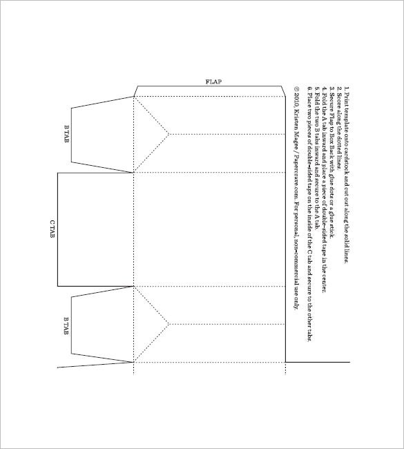 printable box template free download