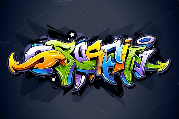 graffiti premium lettering background