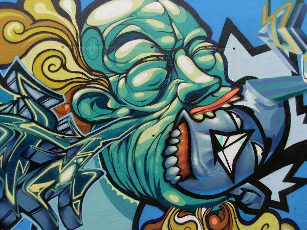 graffiti painting closeup background for free