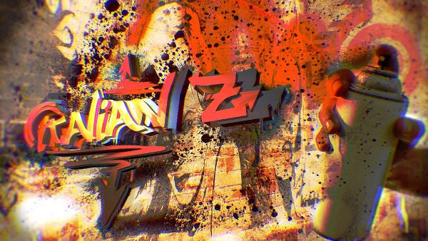 3d graffiti background for free