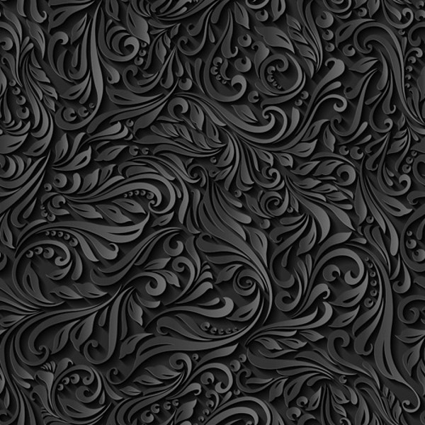 dark floral vector pattern for you