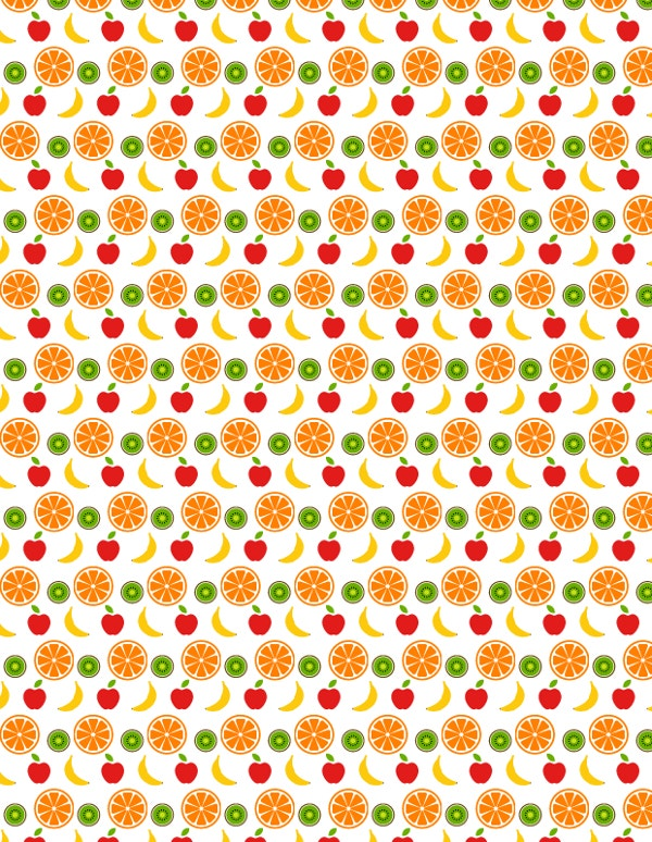 elegant fruity free vector pattern
