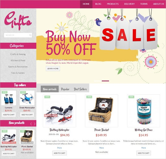 stylish gifts store prestashop theme free download