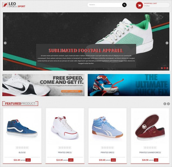 amazing free responsive shoes shop prestashop theme
