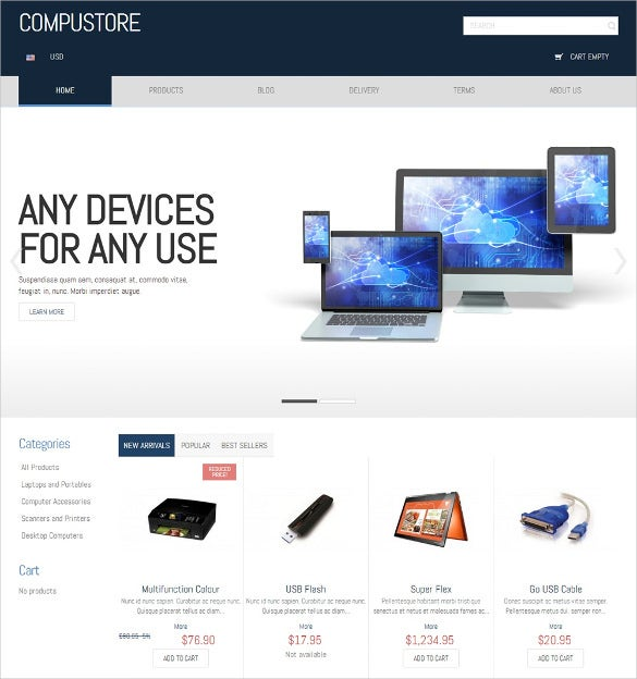 light background computer store prestashop theme free download